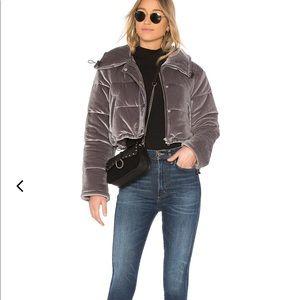 Lovers & Friends velvet puffer jacket